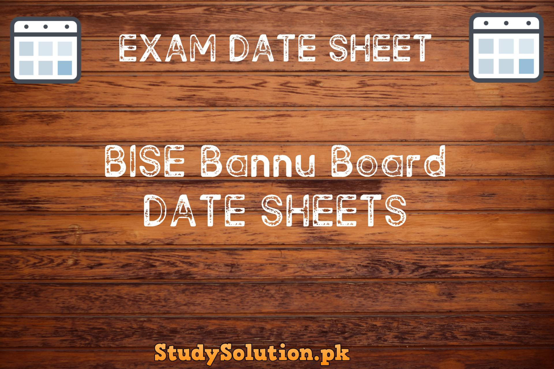 BISE Bannu Date Sheets