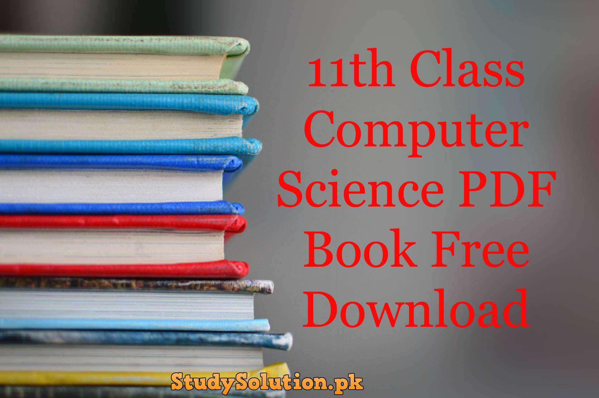 11th Class Computer Science PDF Book Free Download