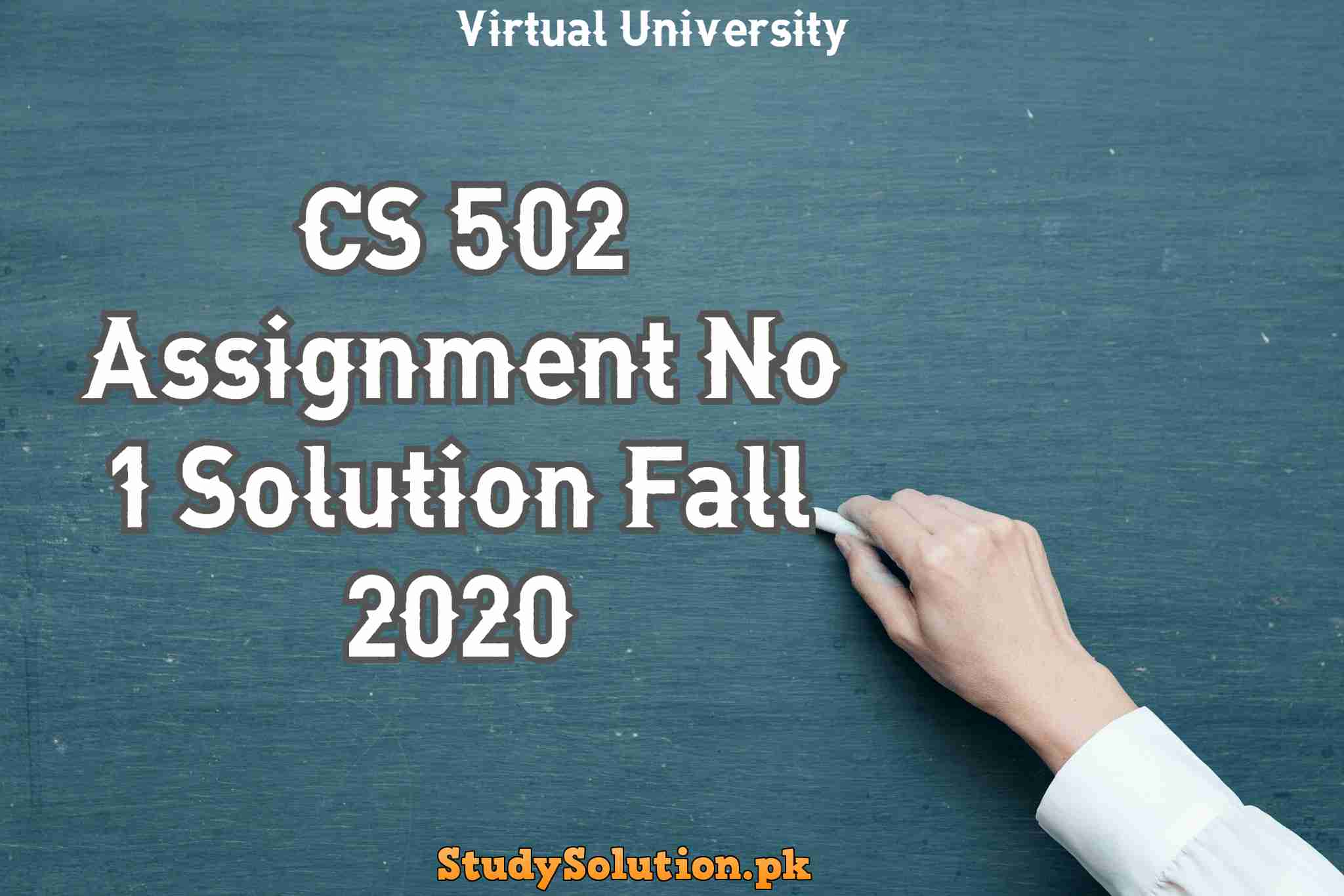 CS 502 Assignment No 1 Solution Fall 2020