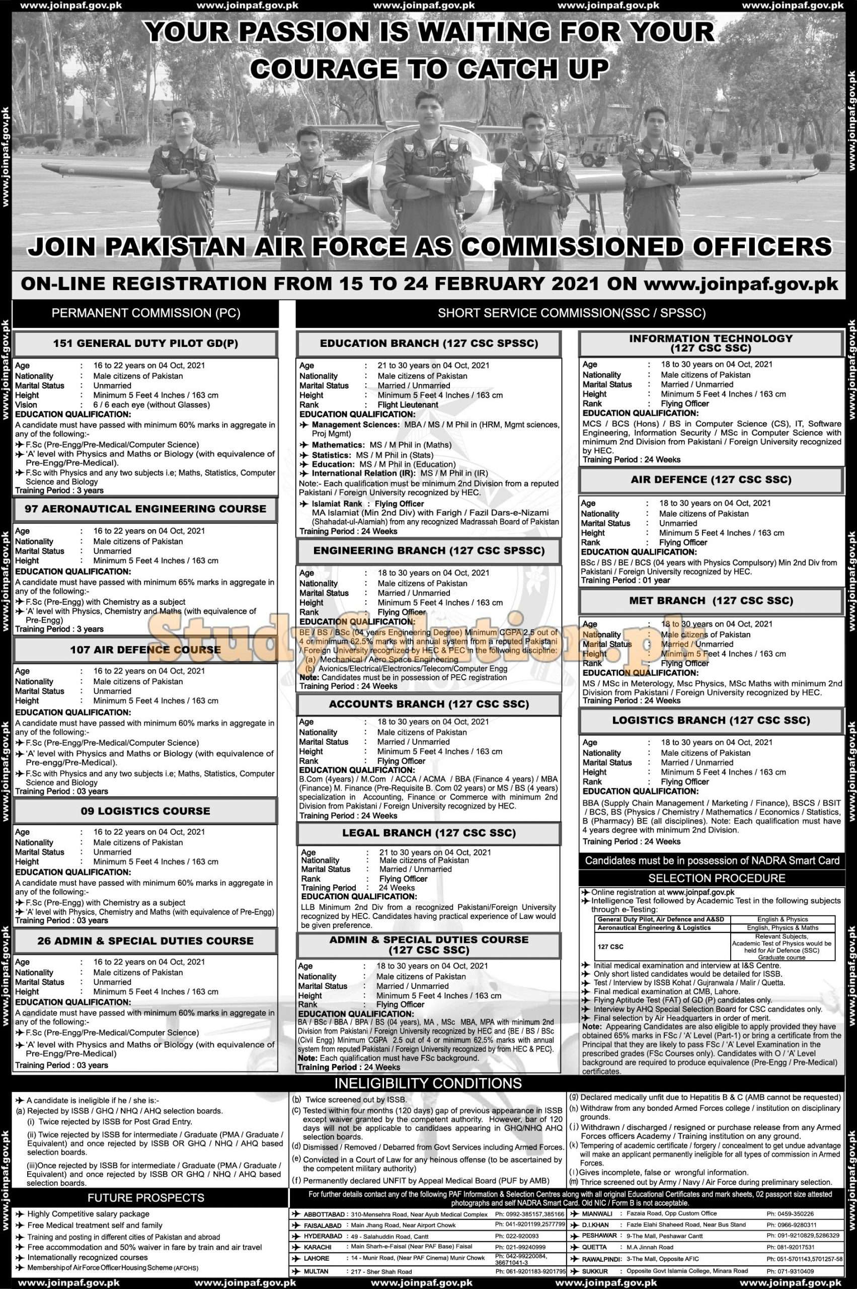 Join PAF As Commissioned Officer Latest 2021 Online Registration