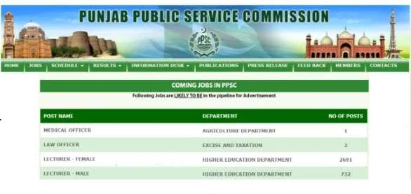 PPSC Punjab Public Service Commission Upcoming Lecturer Jobs 2021