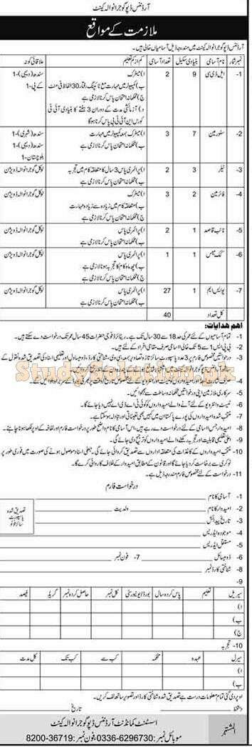 Pakistan Army Ordnance Depot Latest Jobs April 2021